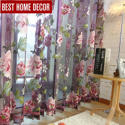 Best home decor drapes sheer window curtains for living room the bedroom kitchen modern tulle curtains window treatment blinds - King City Treasures