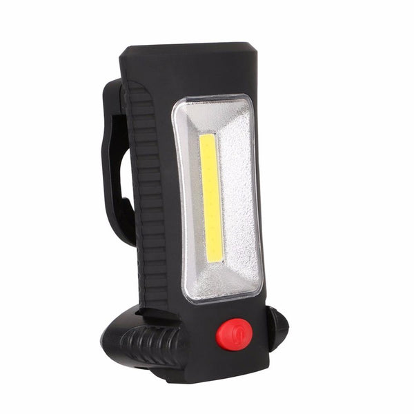 2-Modes COB LED Magnetic Working Folding Hook Hanging Lamp Torch Linternas  Flashlight Handy Lighting Use 3x AAA - King City Treasures