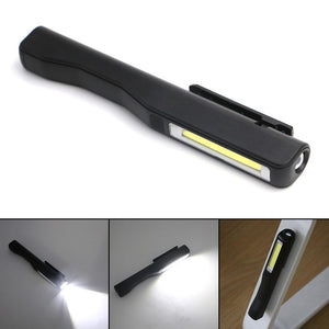 COB LED Mini Pen MultifunctionTorch Inspection Lamp Pocket  Flashlight  with Clip Magnet Lanterna,Use AAA - King City Treasures