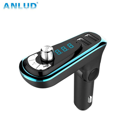 ANLUD Wireless Bluetooth FM Transmitter Hands-free Car Kit Dual USB Car Charger Radio Modulator Audio MP3 Music Player - King City Treasures