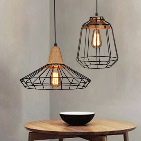 Wooden Rustic Lamp