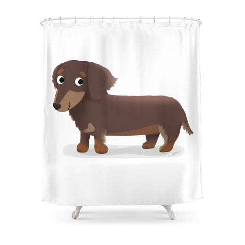 Longhaired Dachshund - Cute Dog Series Shower Curtain