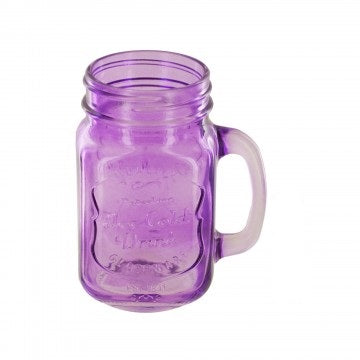 16 oz. Vintage Style Colored Mason Drinking Jar