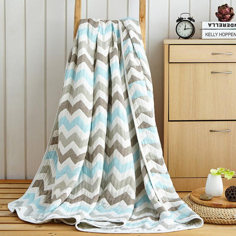 Japan Style Wave Stripe Throw