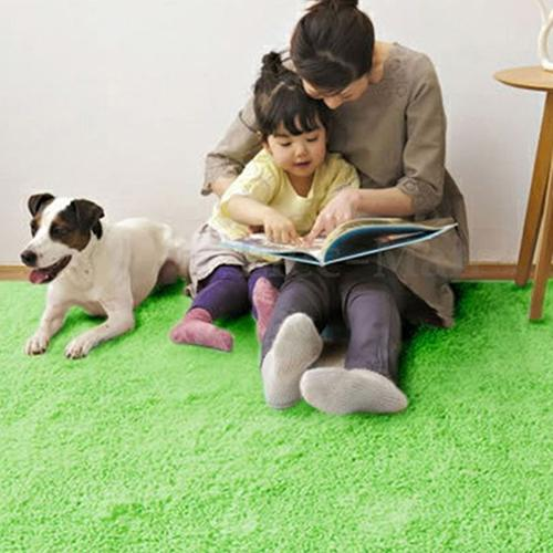 Living Room Bedroom Home Anti-Skid Soft Shaggy Fluffy Area Rug Carpet Floor Mat