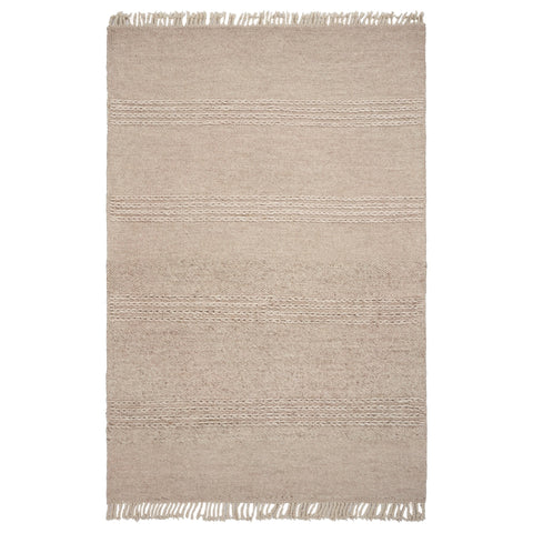 Natural Cable Knit Area Rug