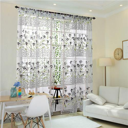 Morning Glory Sheer Curtain Valance 1 Panel