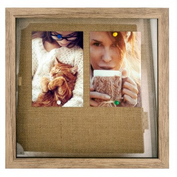 Oak Look Shadow Box Photo Frame