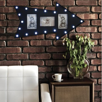 LED Marquee Arrow Photo Frame