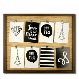 Brown Wire Lines Photo Frame