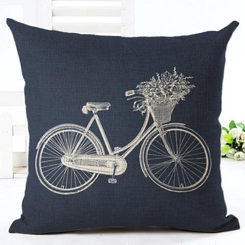 Vintage Bicycle Cushion Cover