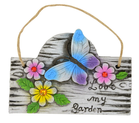 Butterfly Garden Hanging Plaque
