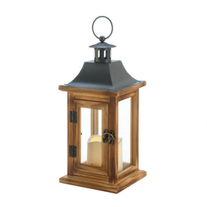Classical Square Lantern with LED Candle - King City Treasures