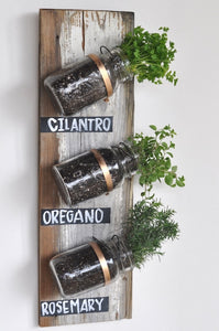 Three-Jar Vertical Herb Garden