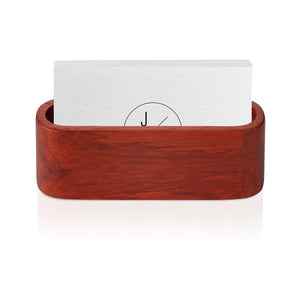 Wooden Business Card Holder Single Compartment Name Card Display Stand Shelf for Desk Desktop Countertop