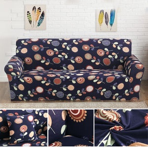 Flower Printed Spandex Stretch Cloth Sofa Slipcover