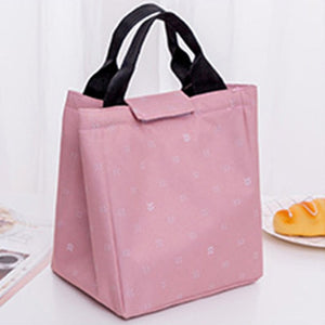 Fashion Leaves Pattern Lunch Bag Warm Keeping Travel Picnic Food Cooler Bag
