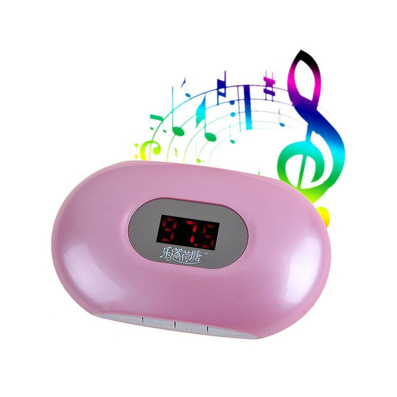 Multi-functional LCD Screen Mini Media Speaker with FM Radio & TF/USB Slots & 3.5mm Earphone Jack (Pink)