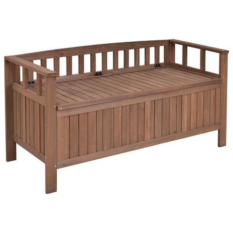 All Weather Outdoor Patio Storage Garden Bench - King City Treasures