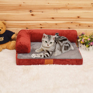 Cute Dog House Pet Bed Sofa Cat Kennel Indoor Puppy Mat Cave Pet Supplies New