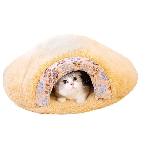 Soft Warm Dog Cat Kitten Cave Pet Bed House Puppy Sleeping Mat Pad Igloo Nest