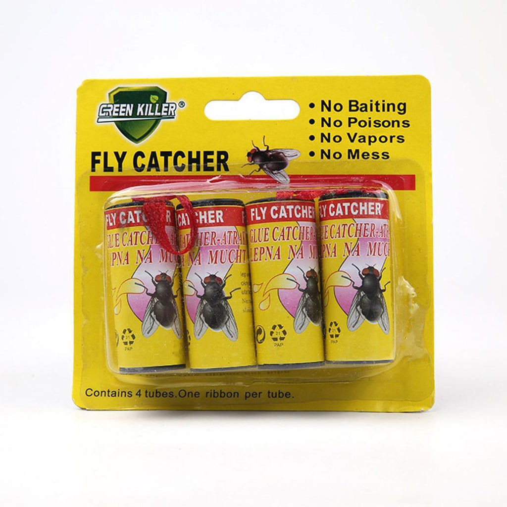Insect Killer Tape Strip Strong Sticky Fly Home Catcher Fly Glue Yellow, Green