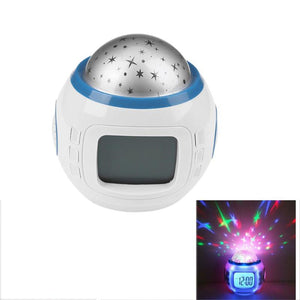 LED Night Light Projector Lamp Music Starry Star Glowing Alarm Clock