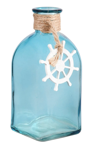 Sea Green Decorative Square Sea Life Bottles with Ropes and a Charm