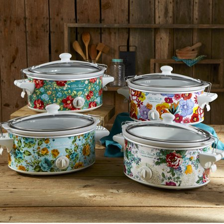 Pioneer Woman 6 Quart Portable Slow Cooker Vintage Floral | Model# 33362 By Hamilton Beach