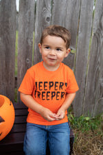 Jeepers Creepers orange t-shirt