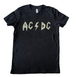AC DC  heather charcoal tshirt (youth med 10/12)