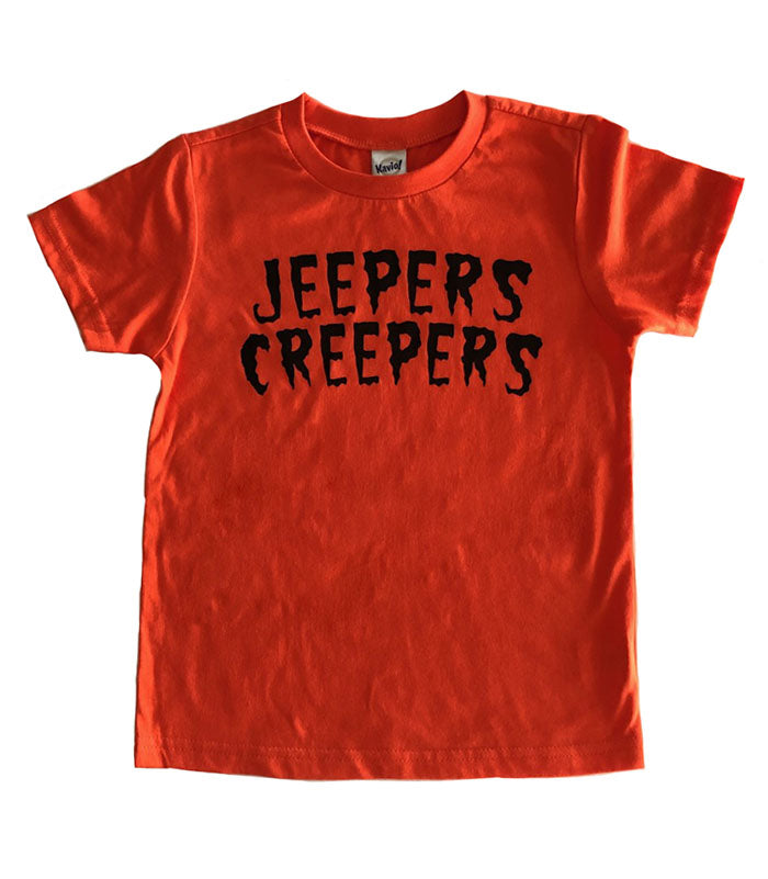 Jeepers Creepers orange t-shirt (2t)