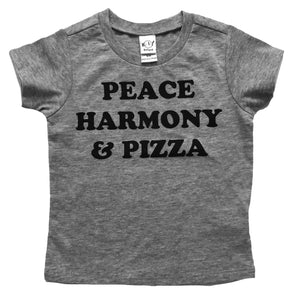 Peace Harmony & Pizza  tshirts