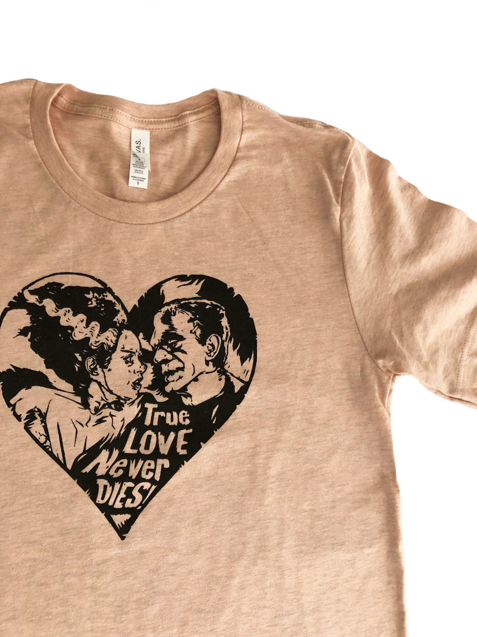 True Love Never Dies (adult sizes) peach tshirts