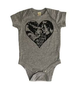True Love Never Dies gray bodysuits