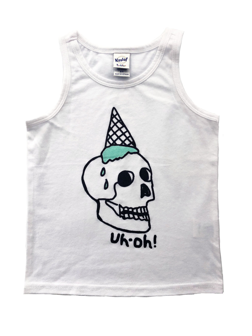 uh-oh skull  TANK TOP