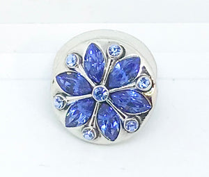 Light Sapphire Blue Crystal Flower Snap