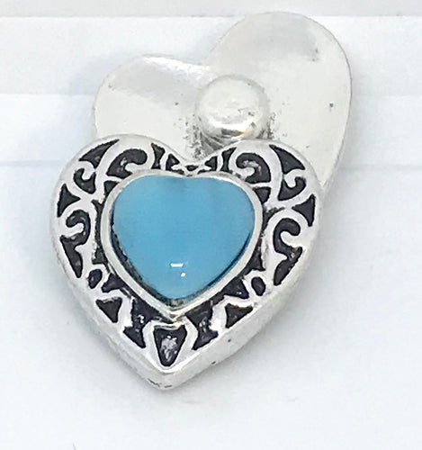 Turquoise Heart Snap