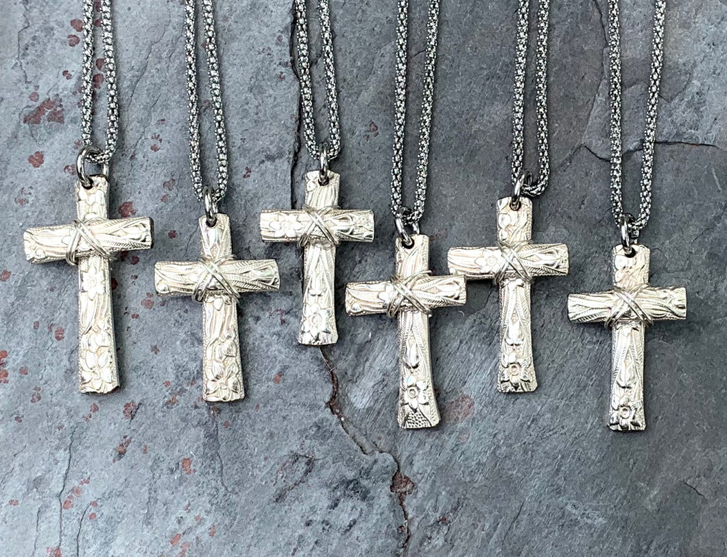 Narcissus Cross Necklaces