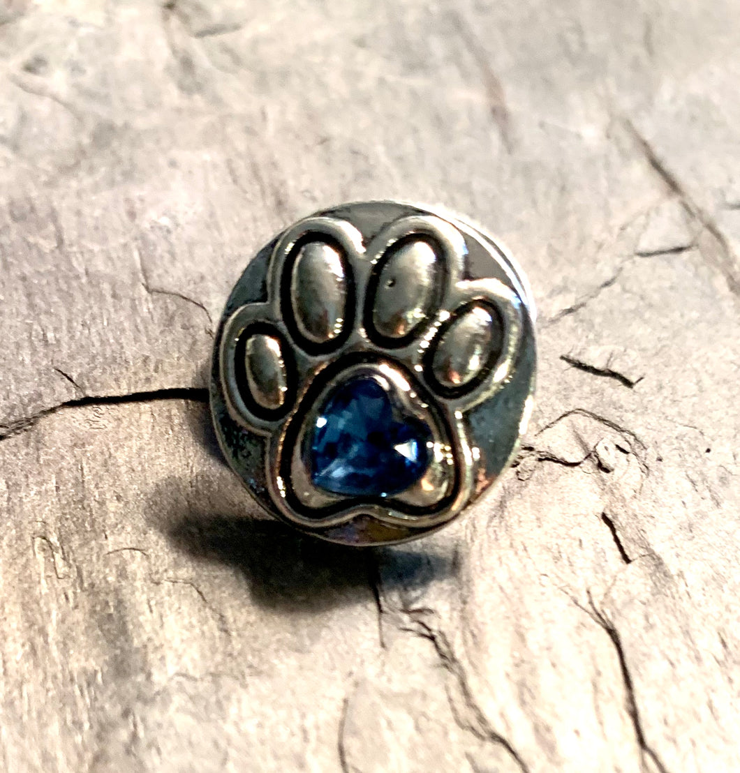 Dog Paw with Blue Crystal