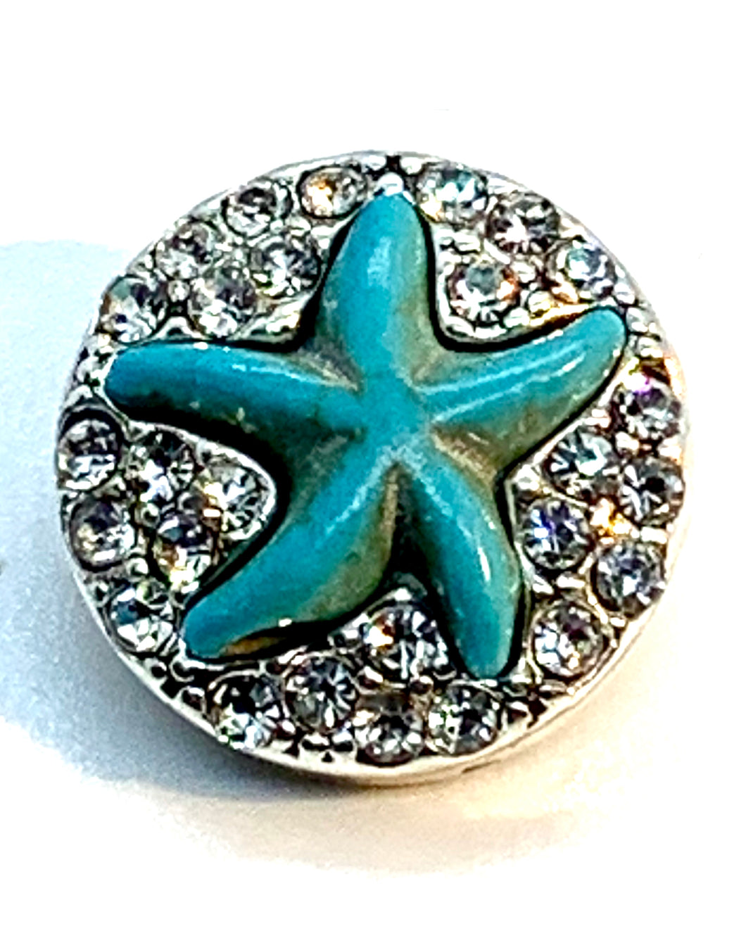 Turquoise and Crystal Starfish Snap