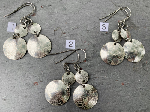 Spoon Bowl Sunflower Earrings