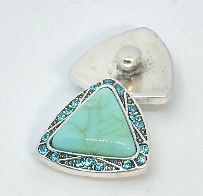 Turquoise and Crystal Triangle Snap