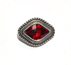 Red and Silver Diamond Shape Snap