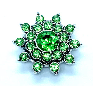 Green Crystal Flower Snap