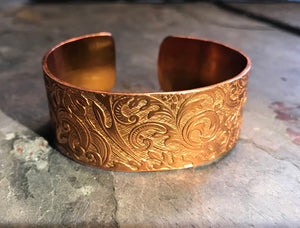 Texturized Copper Cuff