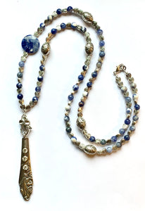 "Sodalite ""Evening Star Necklace"