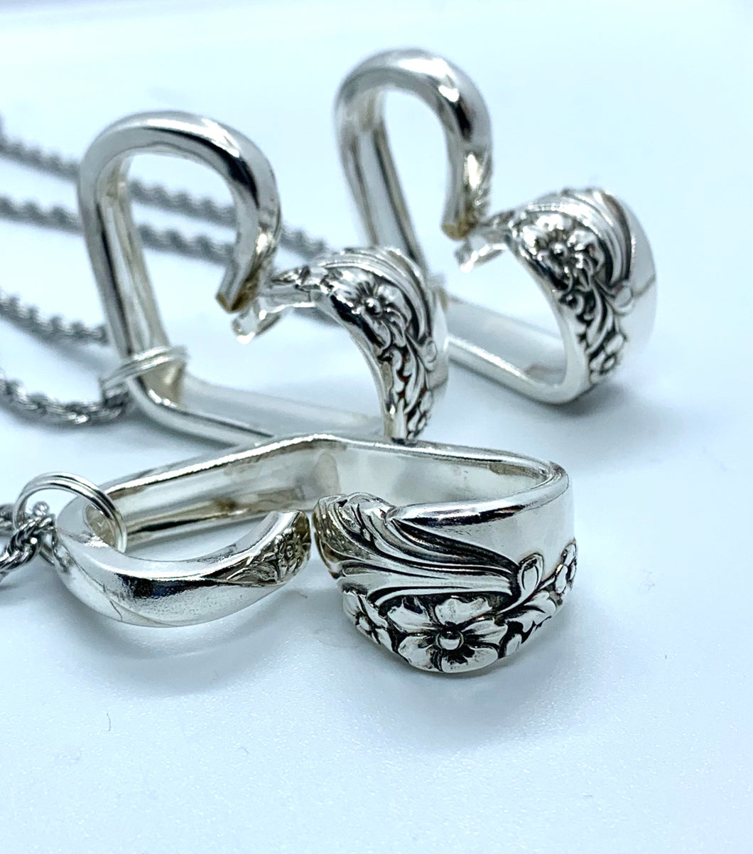 """Evening Star"" Spoon Handle Heart Necklace"