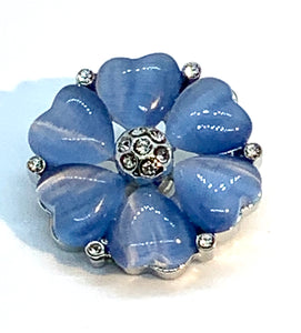 Blue Crystal and Heart Snap