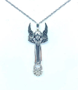 Eternally Yours Vintage Angel Necklace